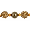 Shamballa Beads Golden Diamond 8In Strand